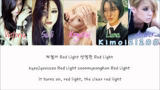 f(x) - Red Light [Hangul/Romanization/English] Color & Picture Coded HD Mp3