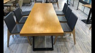 카페 대형 테이블 자작…
