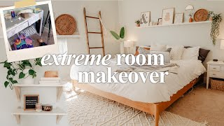EXTREME BEDROOM CLEAN + MAKEOVER | Clean, Declutter, Makeover 2020