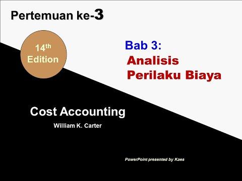 Akuntansi Biaya Bab 3: Analisis Perilaku Biaya