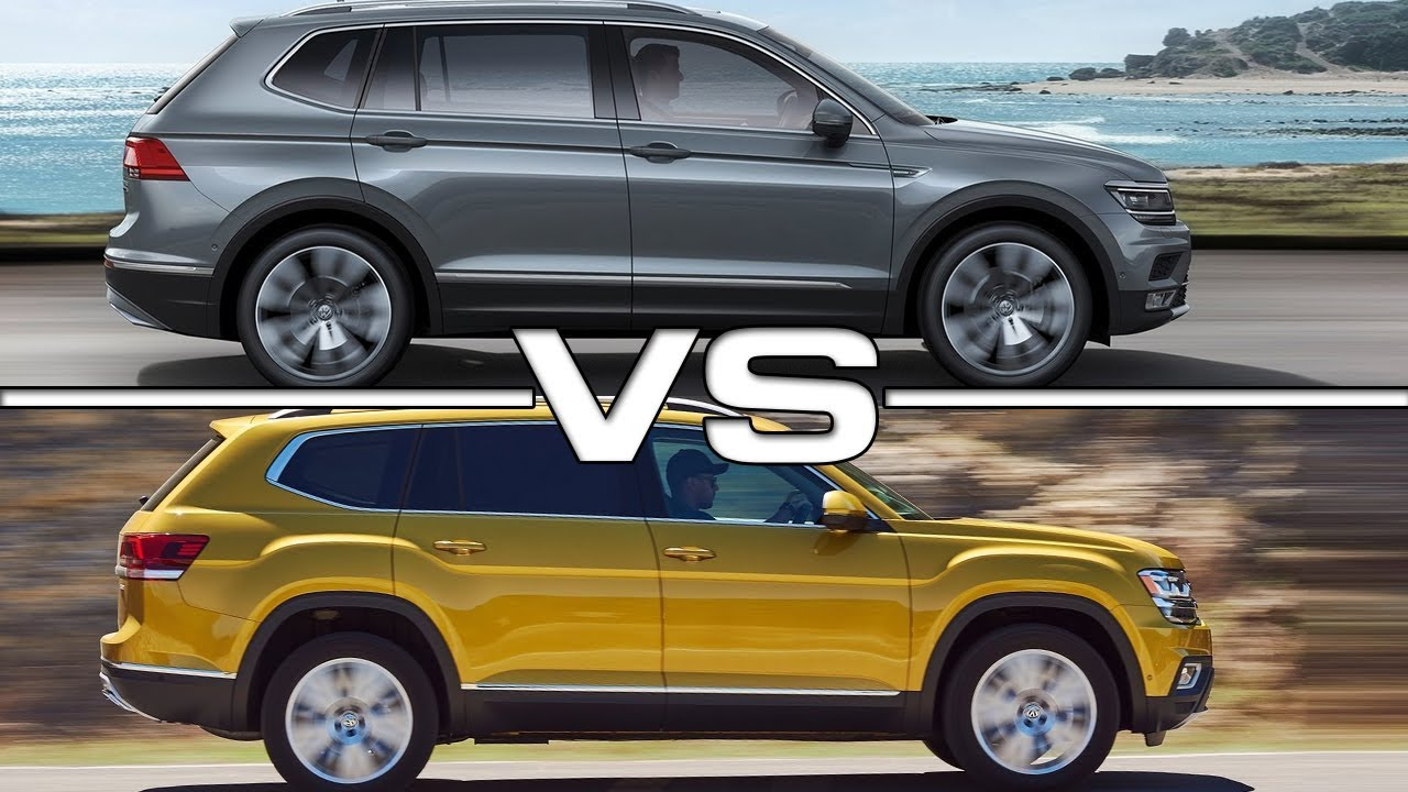 2018 volkswagen tiguan allspace vs 2018 volkswagen atlas youtube. Black Bedroom Furniture Sets. Home Design Ideas