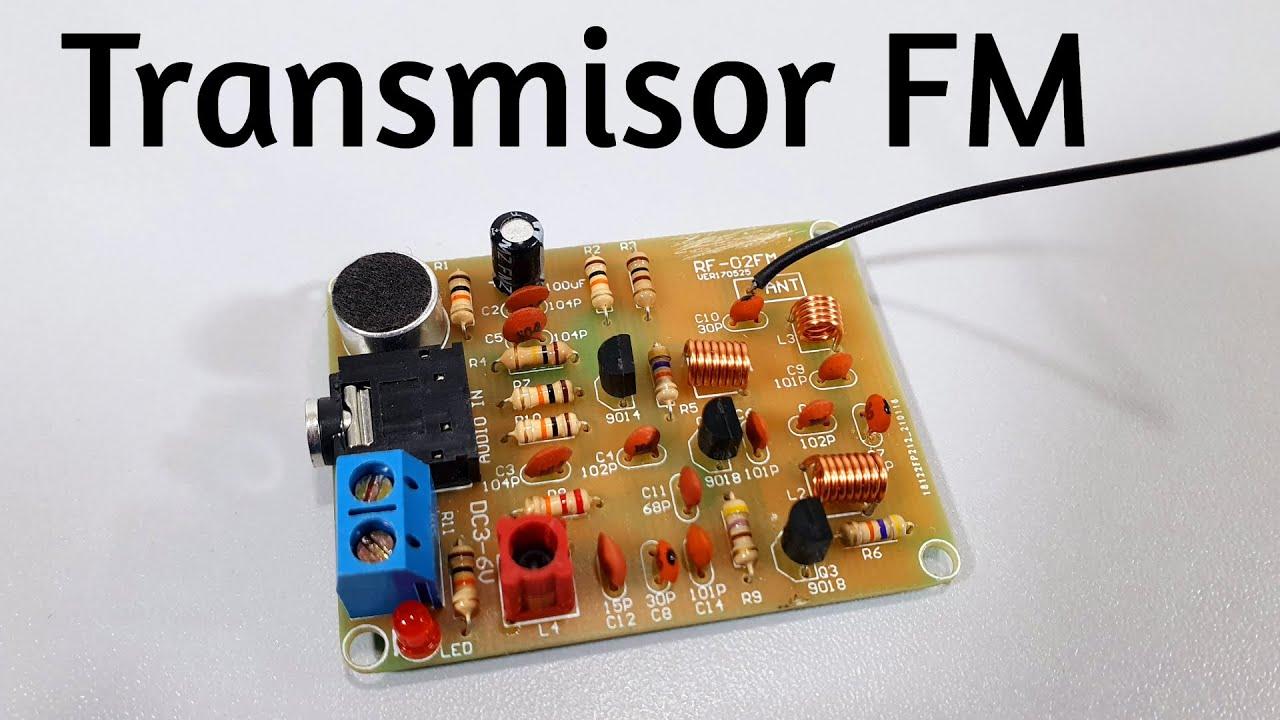 Transmisor de FM con 3 Transistores