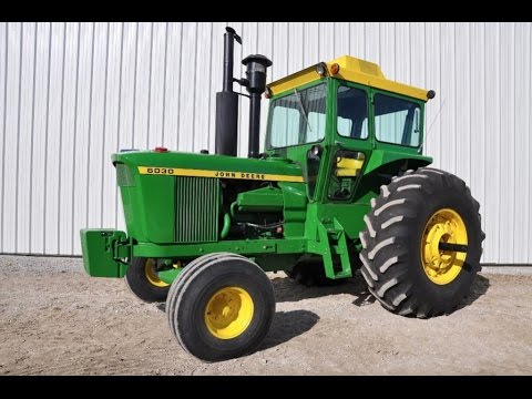Restored 1975 John Deere 6030 Tractor Sold on Iowa Auction Yesterday