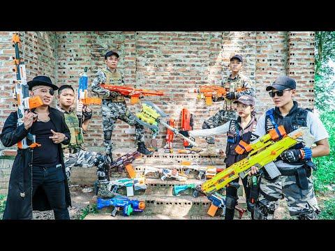 LTT Nerf War : Couple SEAL X Warriors Nerf Guns Fight Dr Lee Group Street Thief