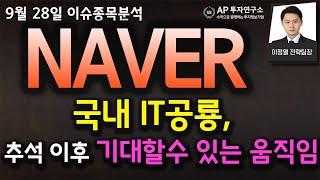 NAVER(035420) - 국내 IT공룡, 추석 이후…