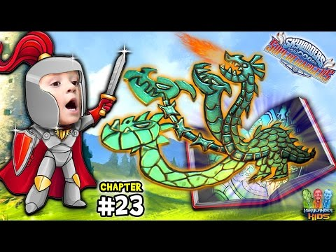 Lets Play SKYLANDERS SUPERCHARGERS Chapter 23: HYDRA & Darkness Chase (Spell Punk Library Continued)