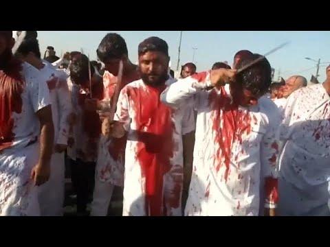 Iraklı Şiiler'in kanlı Aşure Günü matemi