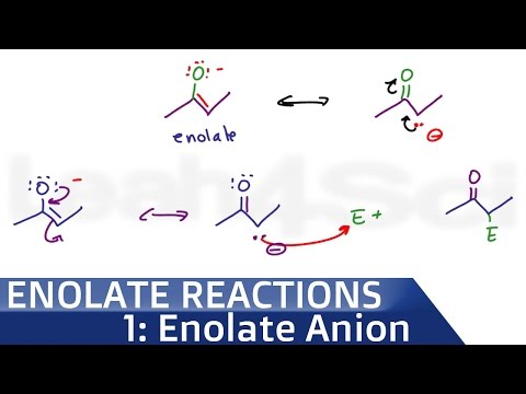 Enolate Ion Formation and Stability of Alpha Acidic Hydrogen