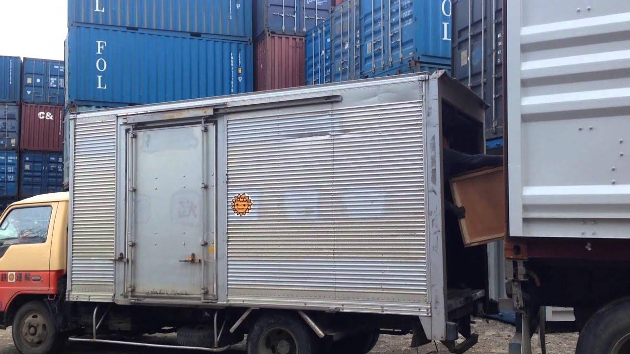 Перевозка 40 футового контейнера на манипуляторе Daewoo Novus .