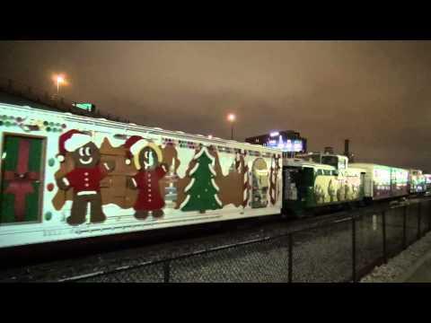 Kansas City Southern Christmas Train in Kansas City 12/20/2015