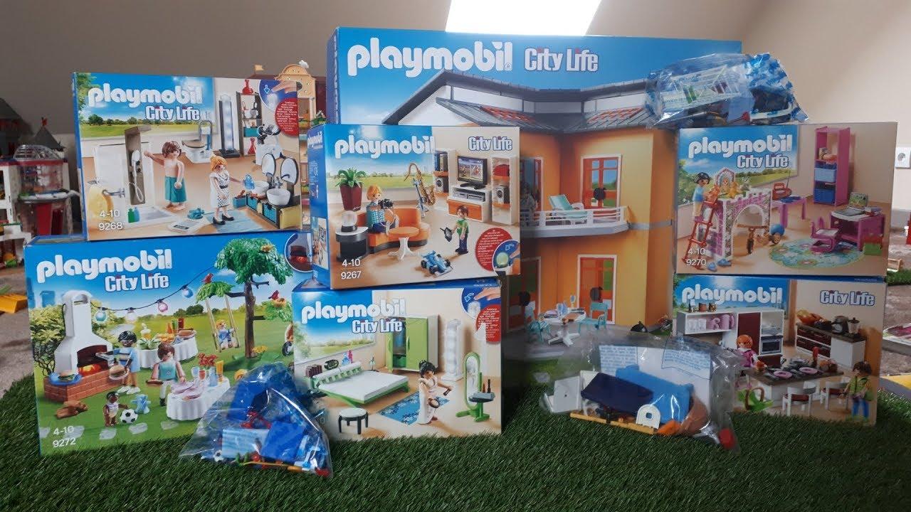 Présentation de la maison moderne playmobil 2017 - YouTube