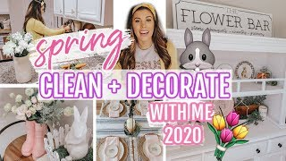 🌷🐰2020 SPRING CLEAN + DECORATE WITH ME | FARMHOUSE SPRING DECOR HAUL | SPRING DEEP CLEAN WITH ME
