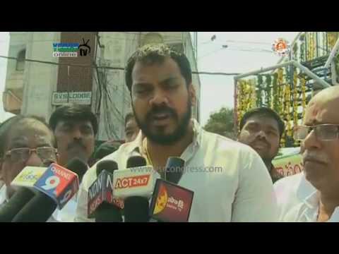 Nellore : YSRCP MLA Anil Kumar Yadav Pays Tributes to Tanguturi Prakasam Statue - 20th May 17
