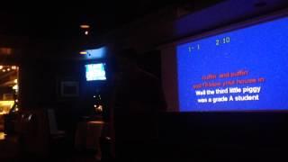 Jeff doing karaoke: Green Jelly : Three Little Pigs