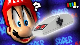 Beating Super Mario 64 Using ONLY an NES Mouse!? [TetraBitGaming]