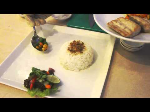 Pan Fried Fish with Mix Vegetable served with Tuturuga Sauce and Steamed RIce