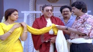 Alludugaru Movie || Mohan Babu Slapping Shobana Comedy Scene  || Mohan Babu, Shobana
