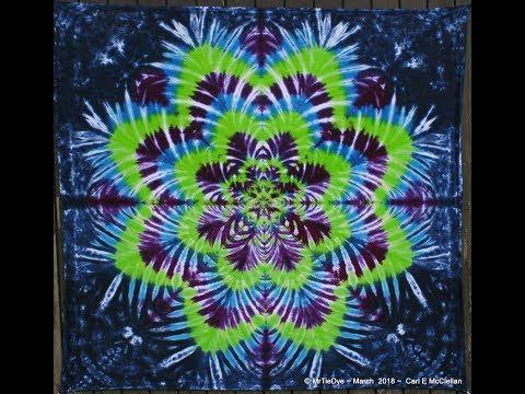 How to Tie Dye a Star Flower ~ Tying