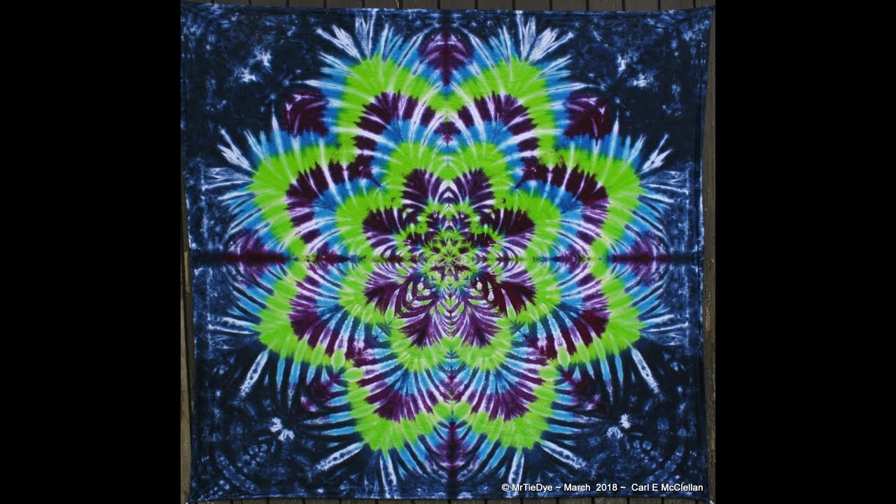 4d1fd5dfdad8f8 How to Tie Dye a Star Flower ~ Tying - YouTube