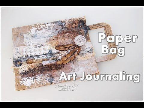 Junk Journal Page from Paper Bag ♡ Maremi's Small Art ♡