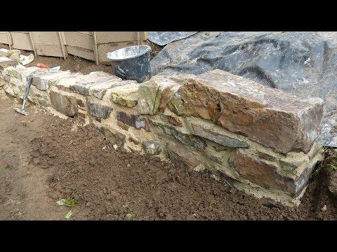 Atemberaubend Experiment: Mauern mit Trasskalk und Ziegelmehl, Natursteinmauer @NT_52