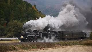 迫力の大型蒸気の重連 SLやまぐち号 Revive