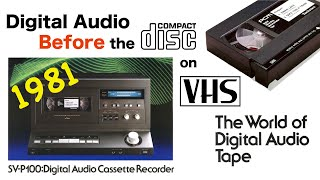 Technics SV-P100 - Digital Audio on VHS tapes - in 1981