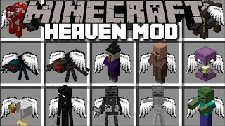 Minecraft HEAVEN MOD / TRAVEL TO HEAVEN AND FIGHT MONSTERS AND SURVIVE !! Minecraft