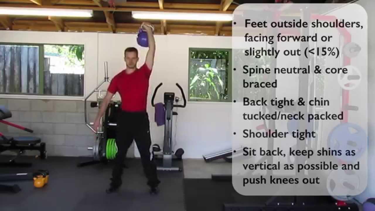 One-Arm Kettlebell Overhead Squat - YouTube