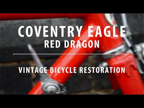 "1982 Coventry Eagle ""Red Dragon"" - Vintage Bicycle Restoration"