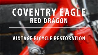 COVENTRY EAGLE seat tube decal.