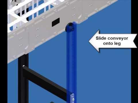 DynaCon Conveyor Leg Set Assembly