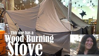 Tent With A Wood Burning Stove & Overnight @ Cabela
