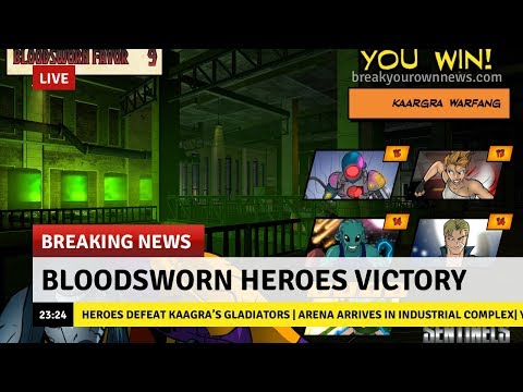 Bloodsworn Heroes Victory - Sentinels of the Multiverse: The Video Game |