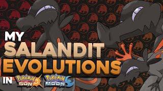 SALANDIT EVOLUTION CONCEPT DESIGNS! | Pokemon Sun and Moon Evolutions for Salandit