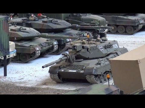 RC Tanks Panzer Leopard Tiger Pershing ♦ Faszination Modellbau Friedrichshafen 2015 Modellbaumesse