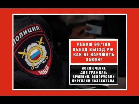 Вьезд выезд рф. Правило 90 / 180, как не нарушить законы РФ и не получить запрет на въезд