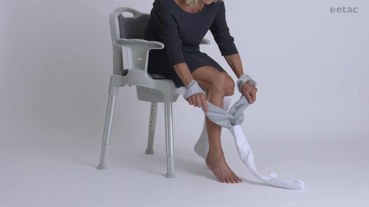 10b263bf020 Need help putting on support and compression stockings  - YouTube