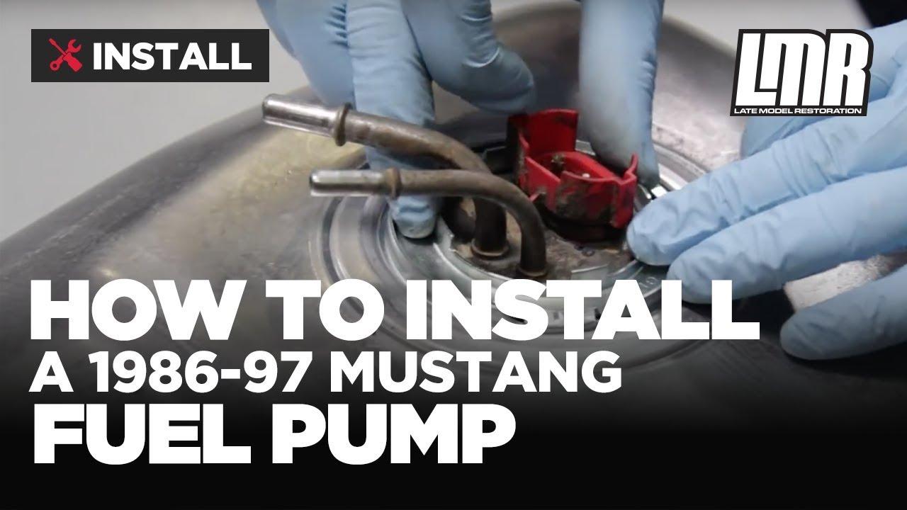 mustang fuel pump install bbk fuel pump 255 lph 86 97  [ 1280 x 720 Pixel ]