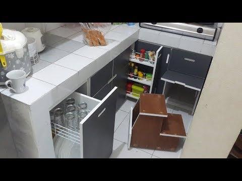 Membuat Kitchen Set Bawah #Part3 Pemasangan pintu dan laci