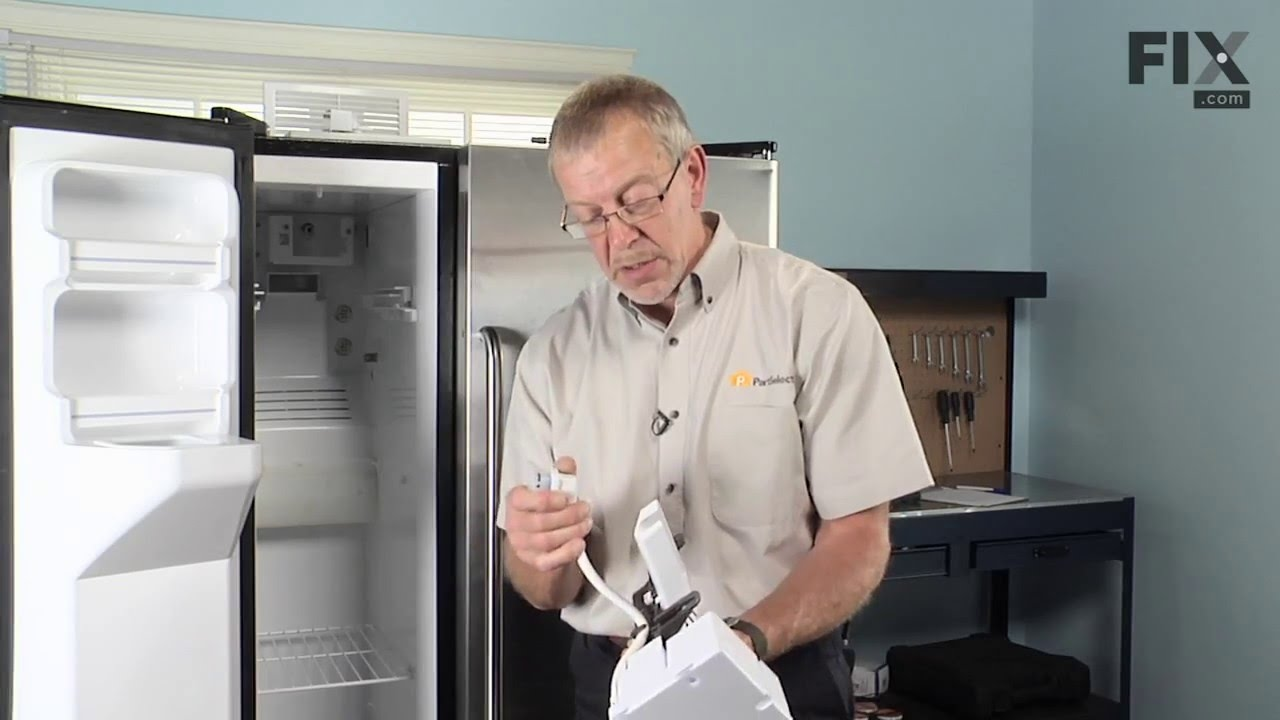Ge Refrigerator Repair How To Replace The Ice Maker