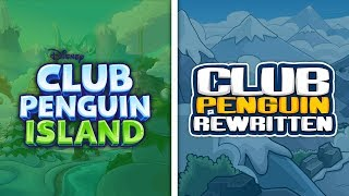 Club Penguin Island vs Club Penguin Rewritten
