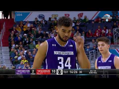 Big Ten Basketball Tournament ''Northwestern Vs Wisconsin'' Mar 11, 2017