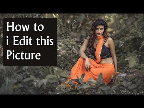 Outdoor fashion shot photo editing music tutorial thumbnail