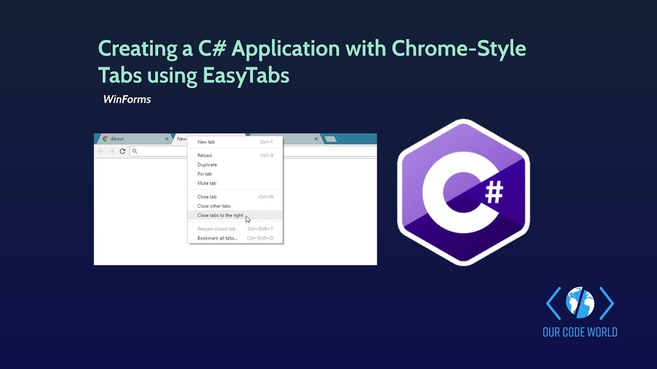 Creating a C# Application with Chrome-Style Tabs using EasyTabs in