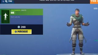 FORTNITE ITEM SHOP ( NEW IDK EMOTE!) LIVE COUNTDOWN! JAN 20 - New Skins, Emotes and MORE!!!