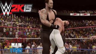 WWE 2k15- Undertaker vs Seth Rollins- One on One Match Saturday night  Main Event 2015 (PS4)