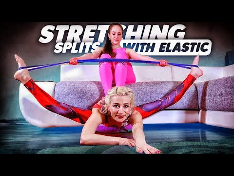 Alesya and Polina home contortion. Frontbend training. Oversplits stretching.