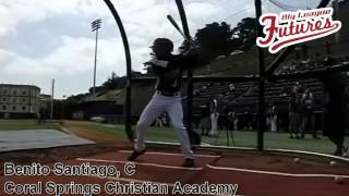 BENITO SANTIAGO, C, CORAL SPRINGS CHRISTIAN ACADEMY, SWING MECHANICS AT 200 FPS