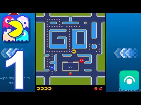 PAC-MAN - Gameplay Walkthrough Part 1 - Mazes: Free, Zoo, Cheese (iOS, Android)